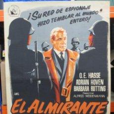 Cine: EL ALMIRANTE CANARIS - JANO - PREMIO BERLIN 1955 - POSTER ORIGINAL - 100 X 70. Lote 263328730