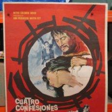 Cine: CUATRO CONFESIONES - PAUL NEWMAN - 1965 - CARTEL / POSTER ORIGINAL - 100 X 70. Lote 263404830