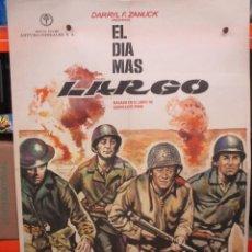 Cinéma: EL DIA MAS LARGO - WAYNE - MITCHUM - FONDA - CARTEL / POSTER ORIGINAL - 100 X 70. Lote 263449995