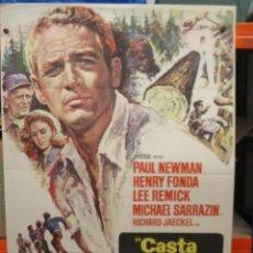 Cine: CASTA INVENCIBLE - NEWMAN / FONDA - CARTEL / POSTER ORIGINAL - 100 X 70. Lote 263486365