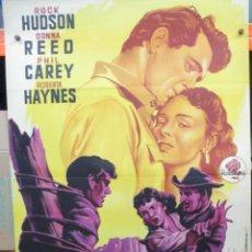 Cinéma: FIEBRE DE VENGANZA - ROCK HUDSON - SOLIGO - CARTEL / POSTER ORIGINAL - 100 X 70. Lote 263541835