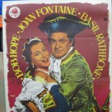 Cine: LA GRAN NOCHE DE CASANOVA - BOB HOPE - MAC - CARTEL / POSTER ORIGINAL - 100 X 70. Lote 263544730