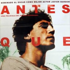 Cine: POSTER ANTES QUE ANOCHEZCA. Lote 263565495