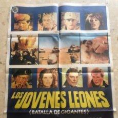 Cine: CARTEL DE CINE ORIGINAL. LOS JOVENES LEONES. BATALLA DE GIGANTES.. Lote 263659445