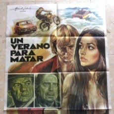 Cine: CARTEL DE CINE UN VERANO PARA MATAR - CHRIS MITCHUM - OLIVIA HUSSEY.. Lote 263661470