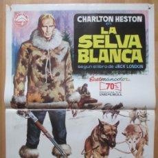 Cine: CARTEL CINE LA SELVA BLANCA CHARLTON HESTON MICHELE MERCIER JANO 1972 C2079. Lote 263672415