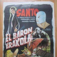 Cine: CARTEL CINE EL BARON BRAKOLA FERNANDO OSES ANDREA PALMA 1967 C2081. Lote 263673985