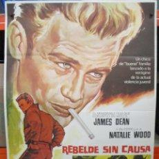 Cine: REBELDE SIN CAUSA - JAMES DEAN - NATALIE WOOD / POSTER ORIGINAL - 100 X 70. Lote 263674505