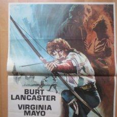 Cine: CARTEL CINE EL HALCON Y LA FLECHA BURT LANCASTER VIRGINIA MAYO 1973 C2085. Lote 263676565