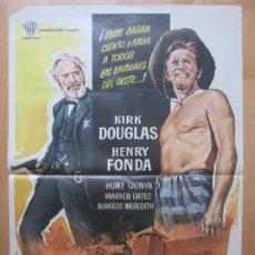 Cine: CARTEL CINE EL DIA DE LOS TRAMPOSOS KIRK DOUGLAS HENRY FONDA MCP 1971 C2091. Lote 263679560