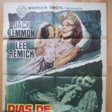 Cine: CARTEL CINE DIAS DE VINO Y ROSAS JACK LEMMON LEE REMICK 1963 C1710. Lote 263687525
