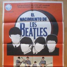 Cine: CARTEL CINE, EL NACIMIENTO DE LOS BEATLES, STEPHEN MACKENNA,1980, C1090. Lote 263697380