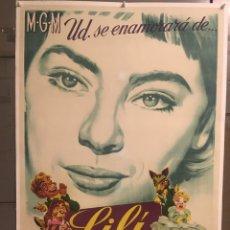 Cine: E2149 LILI LESLIE CARON POSTER ORIGINAL ESTRENO 70X100 LITOGRAFIA ENTELADO. Lote 263699790