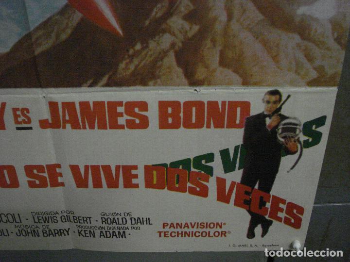 Cine: AAX18 SOLO SE VIVE DOS VECES JAMES BOND 007 SEAN CONNERY POSTER ORIGINAL 70X100 ESTRENO - Foto 9 - 263718005