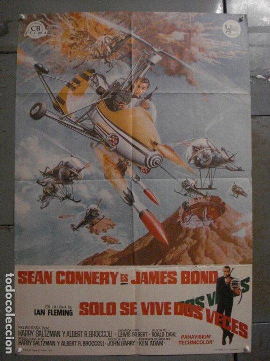 AAX18 SOLO SE VIVE DOS VECES JAMES BOND 007 SEAN CONNERY POSTER ORIGINAL 70X100 ESTRENO (Cine - Posters y Carteles - Acción)