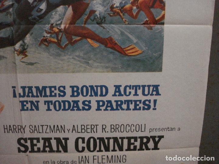 Cine: AAX21 OPERACION TRUENO THUNDERBALL JAMES BOND 007 SEAN CONNERY POSTER 70X100 ESTRENO - Foto 8 - 263721785