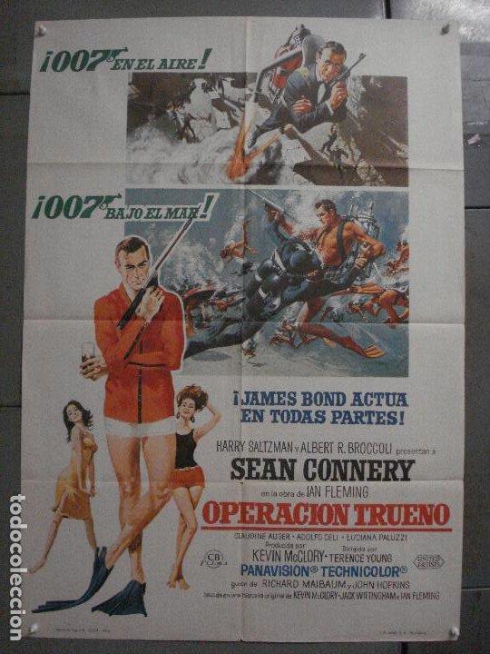 AAX21 OPERACION TRUENO THUNDERBALL JAMES BOND 007 SEAN CONNERY POSTER 70X100 ESTRENO (Cine - Posters y Carteles - Acción)