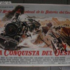 Cine: E2142 LA CONQUISTA DEL OESTE JOHN WAYNE 5 POSTERS ORIGINAL 70X100 ESTRENO MUY RAROS. Lote 263723615