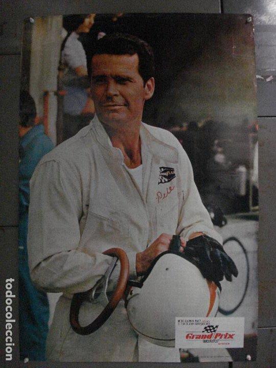 E2147 JAMES GARNER GRAND PRIX AUTOMOVILISMO CAR RACING POSTER ORIGINAL 70X100 ESTRENO MUY RARO (Cine - Posters y Carteles - Deportes)