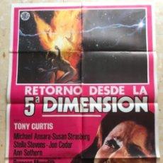Cine: RETORNO DESDE LA 5 DIMENSION TONY CURTID. CARTEL ORIGINAL.. Lote 263745615
