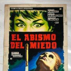 Cine: PORTADA ORIGINAL PINTADA A MANO JOSE PERIS ARAGO - CINE TERROR, EL ABISMO DEL MIEDO. Lote 263778630