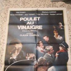 Cine: POSTER CINE POLLO AL VINAGRE CLAUDE CHABROL POSTER ORIGINAL 70X100 ESTRENO. Lote 263803595