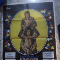 Cine: UNA VEZ AL AÑO SER HIPPY NO HACE DAÑO TONY LEBLANC LANDA POSTER ORIGINAL 70X100 ESTRENO. Lote 263957510