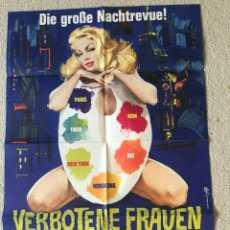Cine: SEX PROIBITISSIMO - VERBOTENE FRAUEN VERBOTENE NÄCHTE - 1963 - ORIGINAL CINEMA POSTER. Lote 264035845