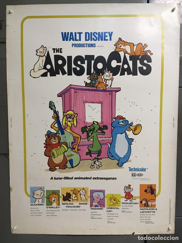 E2171 LOS ARISTOGATOS WALT DISNEY POSTER ORIGINAL AMERICANO 76X102 R-80 (Cine - Posters y Carteles - Infantil)