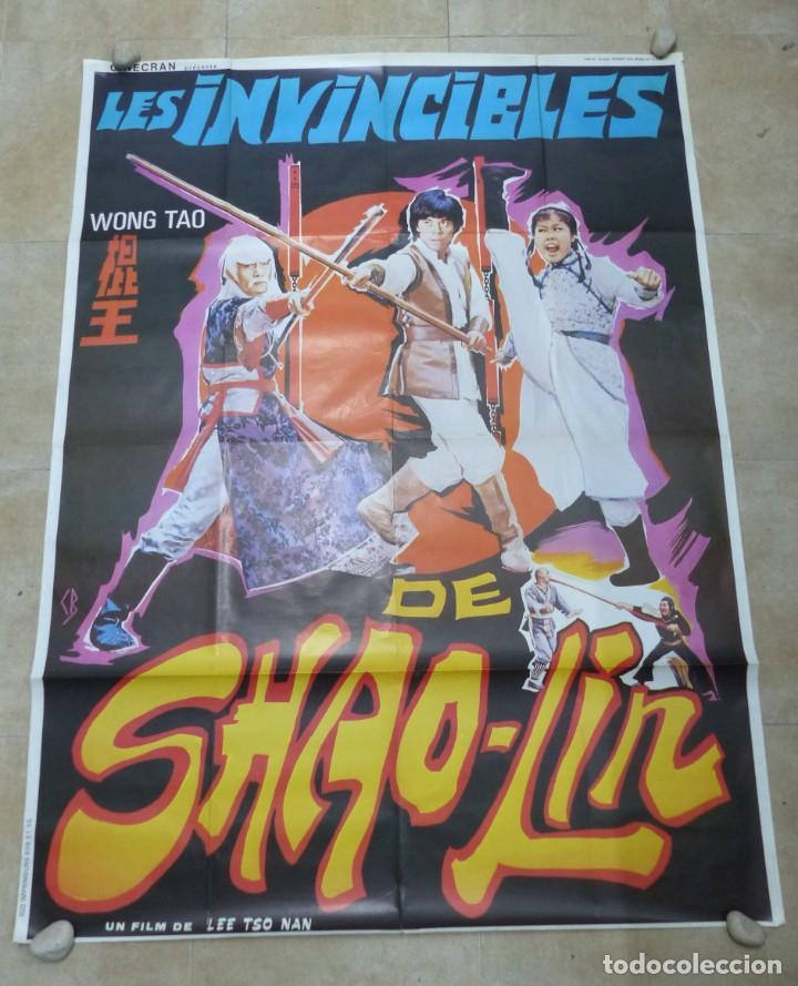LES INVINCIBLES DE SHAO-LIN - CARTEL GRANDE FRANCES (Cine - Posters y Carteles - Acción)