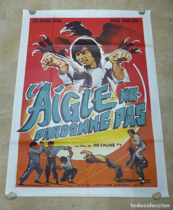 L'AIGLE NE PARDONNE PAS - CARTEL GRANDE FRANCES (Cine - Posters y Carteles - Acción)