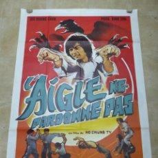 Cine: L'AIGLE NE PARDONNE PAS - CARTEL GRANDE FRANCES. Lote 264049635