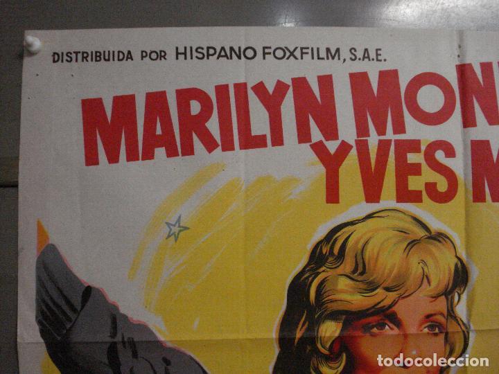 Cine: AAX24 EL MULTIMILLONARIO MARILYN MONROE SOLIGO POSTER ORIGINAL 70X100 ESTRENO LITOGRAFIA - Foto 2 - 264062740