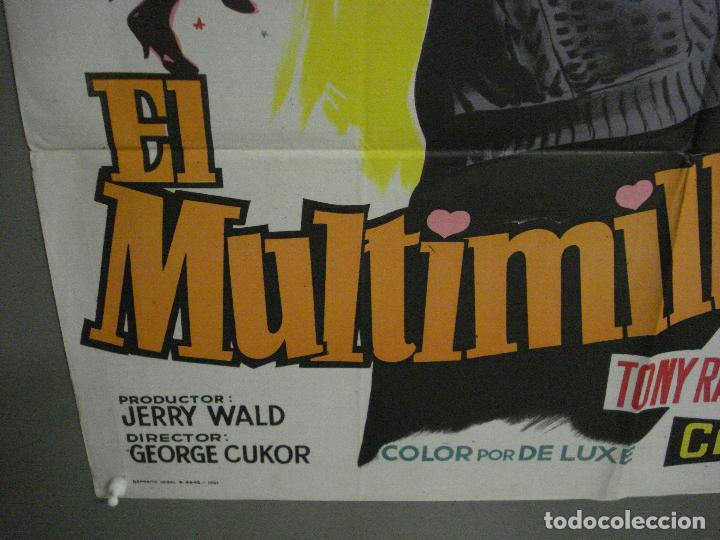 Cine: AAX24 EL MULTIMILLONARIO MARILYN MONROE SOLIGO POSTER ORIGINAL 70X100 ESTRENO LITOGRAFIA - Foto 5 - 264062740