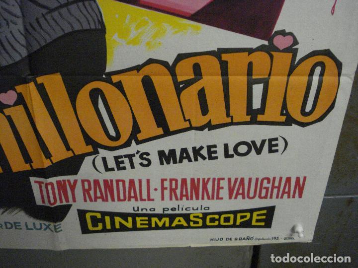 Cine: AAX24 EL MULTIMILLONARIO MARILYN MONROE SOLIGO POSTER ORIGINAL 70X100 ESTRENO LITOGRAFIA - Foto 9 - 264062740