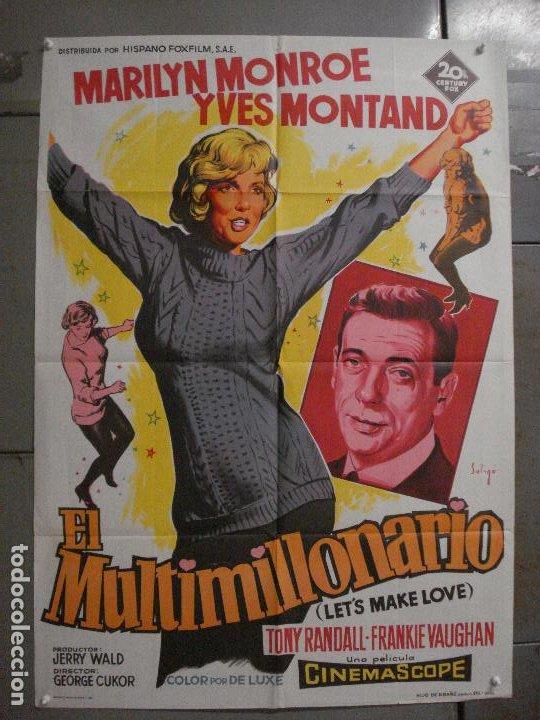 AAX24 EL MULTIMILLONARIO MARILYN MONROE SOLIGO POSTER ORIGINAL 70X100 ESTRENO LITOGRAFIA (Cine - Posters y Carteles - Musicales)