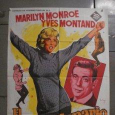 Cine: AAX24 EL MULTIMILLONARIO MARILYN MONROE SOLIGO POSTER ORIGINAL 70X100 ESTRENO LITOGRAFIA. Lote 264062740