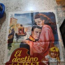 Cinéma: CARTEL CINE POSTER ORIGINAL PELÍCULA DRAMA EL DESTINO DE SISSI ROMY SCHNEIDER CARLOS BOHM AÑO 1970. Lote 264095395