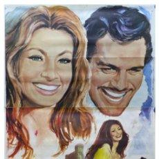 Cine: SIEMPRE HAY UNA MUJER - SOFIA LOREN, OMAR SHARIF - AÑO 1968 - CARTEL GRANDE EN TRES PIEZAS. Lote 264136635