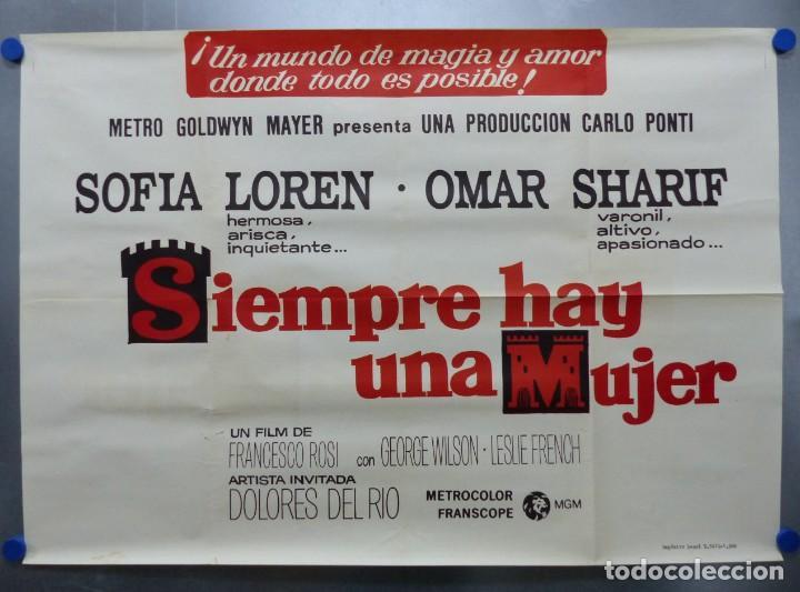 Cine: SIEMPRE HAY UNA MUJER - SOFIA LOREN, OMAR SHARIF - AÑO 1968 - CARTEL GRANDE EN TRES PIEZAS - Foto 6 - 264136635
