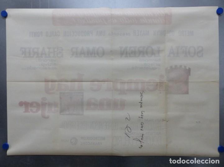Cine: SIEMPRE HAY UNA MUJER - SOFIA LOREN, OMAR SHARIF - AÑO 1968 - CARTEL GRANDE EN TRES PIEZAS - Foto 8 - 264136635