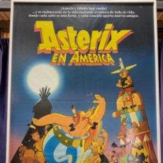 Cine: ASTERIX EN AMERICA CARTEL CINE PUBLICITARIO ENMARCADO 99X70CMS. Lote 264168784