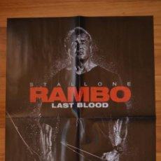 Cine: POSTER O CARTEL DOBLE #108 DE RAMBO: LAST BLOOD Y LA CASA DE PAPEL. Lote 264190480