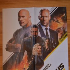 Cine: POSTER O CARTEL DOBLE #112 DEFAST & FURIOUS: HOBBS & SHAW Y THE BOYS. Lote 264195336