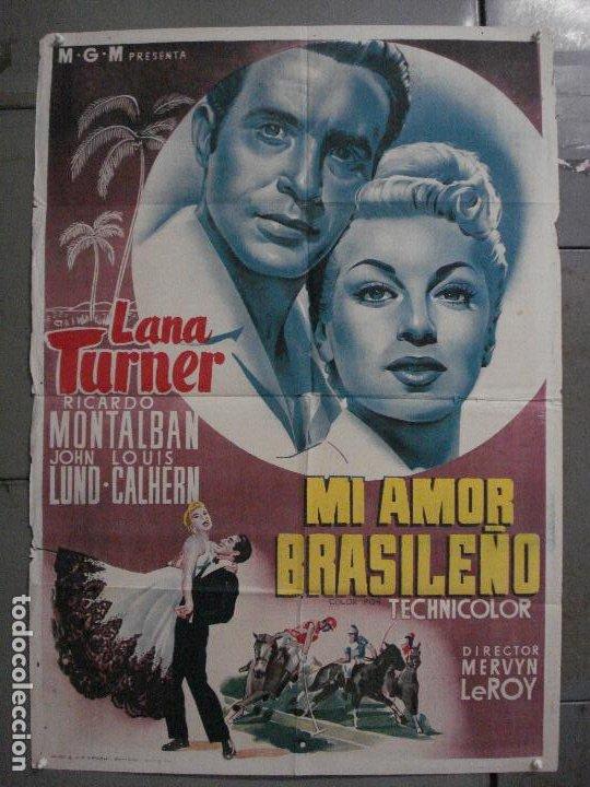 AAX37 MI AMOR BRASILEÑO LANA TURNER POSTER ORIGINAL ESPAÑOL 70X100 LITOGRAFIA (Cine - Posters y Carteles - Musicales)