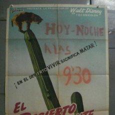 Cine: AAX41 EL DESIERTO VIVIENTE WALT DISNEY POSTER ORIGINAL 70X100 DEL ESTRENO LITOGRAFIA. Lote 264229192