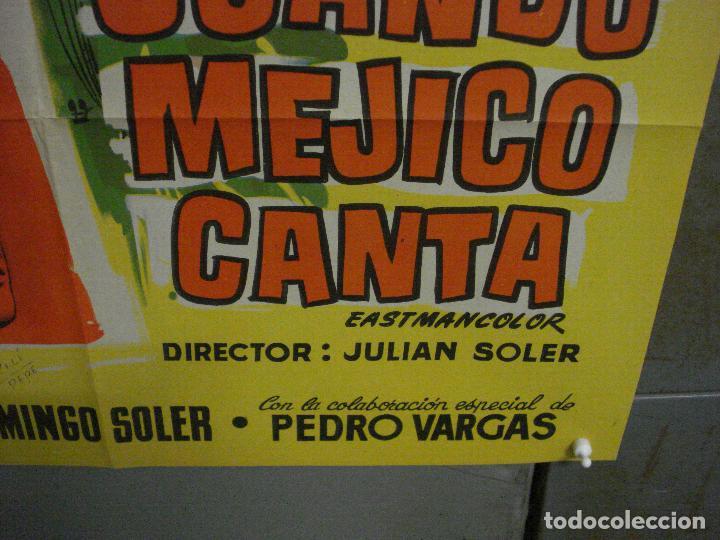 Cine: AAX43 CUANDO MEJICO CANTA ROSITA QUINTANA FERNANDO SOLER POSTER ORIGINAL 70X100 ESTRENO LITOGRAFIA - Foto 9 - 264231316
