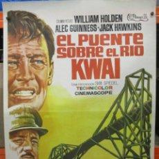 Cinéma: EL PUENTE SOBRE EL RIO KWAI - MAC - WILLIAN HOLDEN - ALEC GUINESS - POSTER ORIGINAL - 100 X 70. Lote 264518419