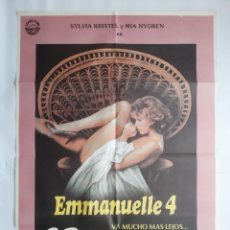 Cinema: ANTIGUO CARTEL CINE EMMANUELLE 4 SYLVIA KRISTEL 1984 RV P18. Lote 264689004
