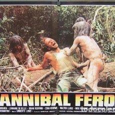 Cine: HT49D CANIBAL FEROZ UMBERTO LENZI POSTER ORIGINAL ITALIANO 47X68. Lote 264983384